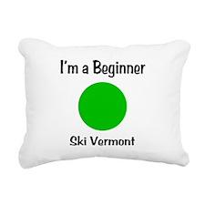 Beginner Ski Vermont Rectangular Canvas Pillow