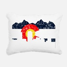 CO_Flag2_wash_Navy.png Rectangular Canvas Pillow