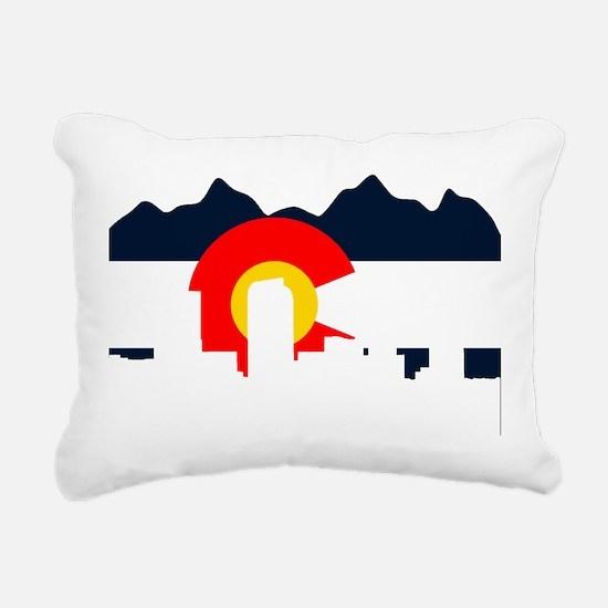 CO_Flag2_Navy.png Rectangular Canvas Pillow