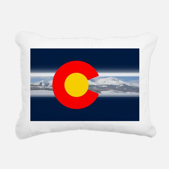 CO_Flag_Mountain.png Rectangular Canvas Pillow