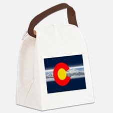 CO_Flag_Mountain.png Canvas Lunch Bag