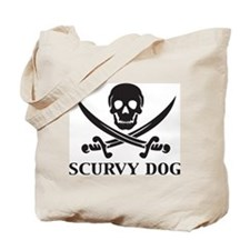 Scurvy Dog Tote Bag
