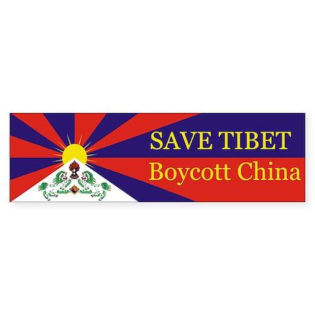 Save Tibet Boycott China Bumper Sticker
