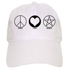 Peace Love and Magick on light Baseball Cap