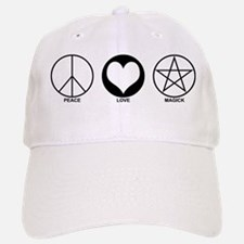 Peace Love and Magick on light Cap