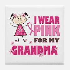 Wear Pink 4 Grandma Tile Coaster