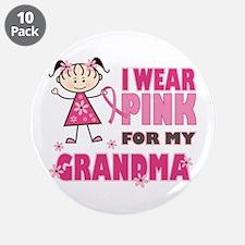"Wear Pink 4 Grandma 3.5"" Button (10 pack)"