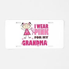 Wear Pink 4 Grandma Aluminum License Plate