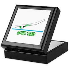 Swim Dad (girl) green suit Keepsake Box