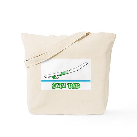 Swim Dad (girl) green suit Tote Bag