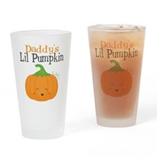 Daddys Little Pumpkin Drinking Glass