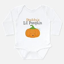 Daddys Little Pumpkin Long Sleeve Baby Bodysuit