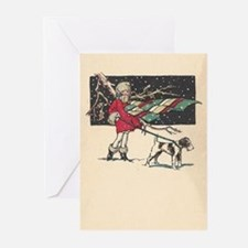 fox terrier holiday blank Greeting Cards (Pk of 10