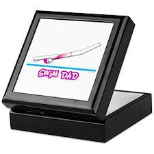 Swim Dad (girl) pink suit Keepsake Box