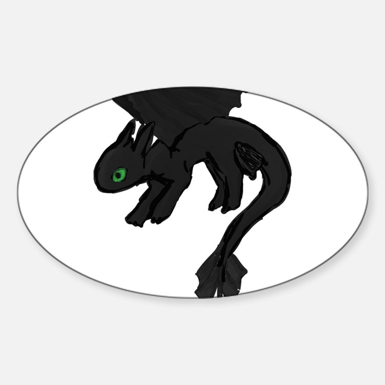 dragon Sticker (Oval)