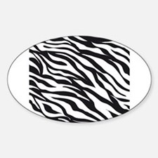 Zebra Animal Print Sticker (Oval)