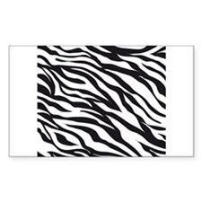 Zebra Animal Print Decal