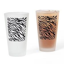 Zebra Animal Print Drinking Glass