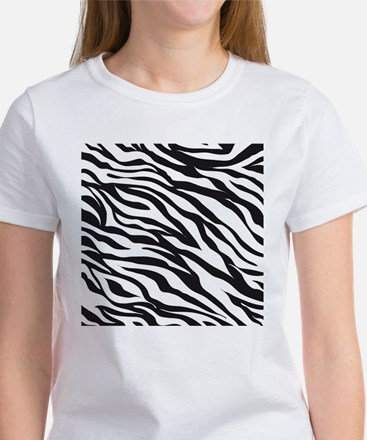 Zebra Animal Print Women's T-Shirt
