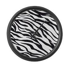 Zebra Animal Print Large Wall Clock