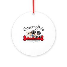 TeddyBear Schnoodle Logo Ornament (Round)