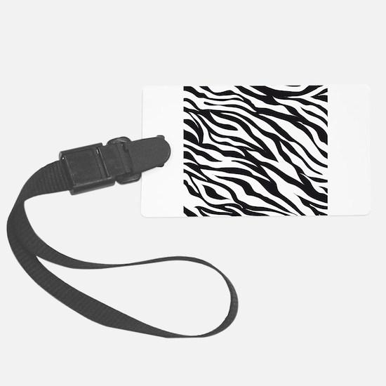 Zebra Animal Print Luggage Tag