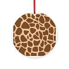 Giraffe Animal Print Ornament (Round)