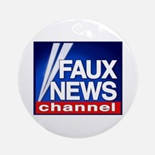 Faux News Channel - Ornament (Round)