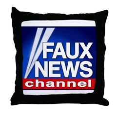 Faux News Channel - Throw Pillow