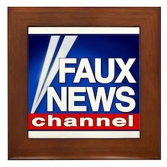 Faux News Channel - Framed Tile