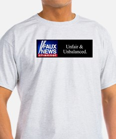 Faux News Channel - Ash Grey T-Shirt