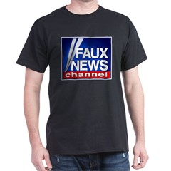 Faux News Channel - Black T-Shirt