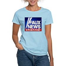 Faux News Channel - Women's Pink T-Shirt