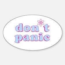 Dont Panic Hitchhikers Guide Oval Decal