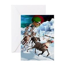 FLIGHT OVER CHRISTMASVILLE - Greeting Card