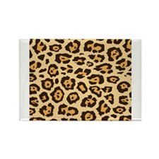 Leopard Animal Print Rectangle Magnet