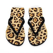 Leopard Animal Print Flip Flops