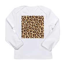 Leopard Animal Print Long Sleeve Infant T-Shirt