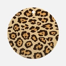 Leopard Animal Print Ornament (Round)
