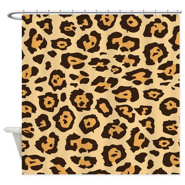 Leopard Animal Print Shower Curtain By PrintedLittleTreasures