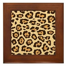 Leopard Animal Print Framed Tile