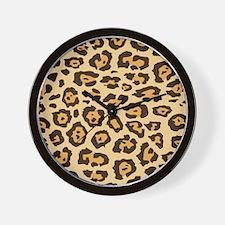 Leopard Animal Print Wall Clock