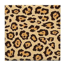 Leopard Animal Print Tile Coaster