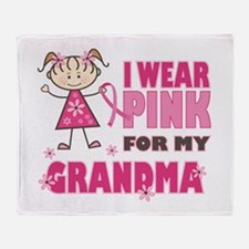 Wear Pink 4 Grandma Throw Blanket