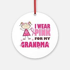 Wear Pink 4 Grandma Ornament (Round)