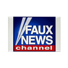 Faux News Channel - Rectangle Magnet (10 pack)