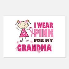 Wear Pink 4 Grandma Postcards (Package of 8)