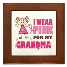 Wear Pink 4 Grandma Framed Tile