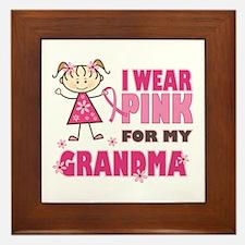 Wear Pink 4 Grandma Framed Tile