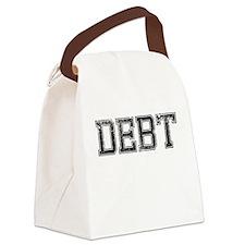 DEBT, Vintage Canvas Lunch Bag
